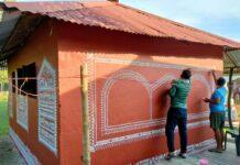'সৃজনী'-তে এবার আয়োজন করা হল ওড়িশার পারম্পরিক দেওয়াল চিত্র